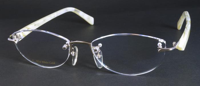 K14ホワイトゴールド ツーポイントメガネ