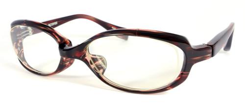 赤茶色のメガネ