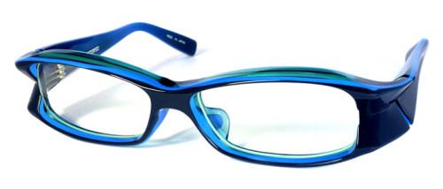 青のプラスチックフレーム