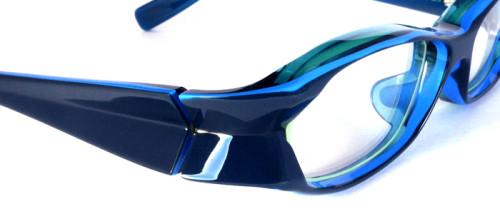 ブルーのプラスチックフレーム
