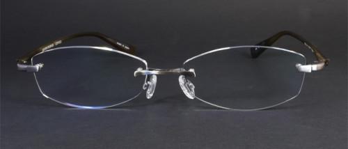 レンズ形状を変更した福山雅治さんガリレオ着用メガネ正面