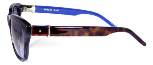 ブルーとべっ甲柄のサングラス横から