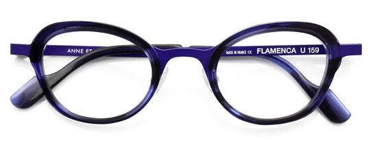 パープルのメガネ