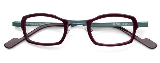 グリーンとブラウンのメガネ
