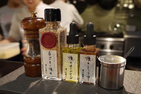 煙事の5種類の薫製調味料