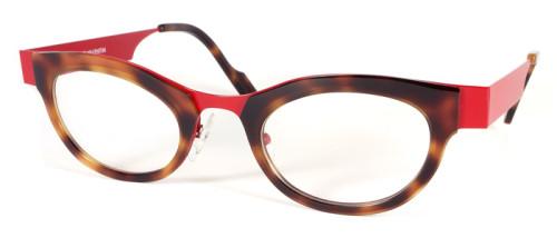 赤とべっ甲柄のコンビネーションメガネ