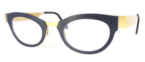 黒と金のコンビネーションメガネ