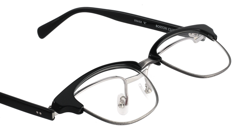 "BOSTON CLUB FISHER ""R"" col*05 Black/Silver"