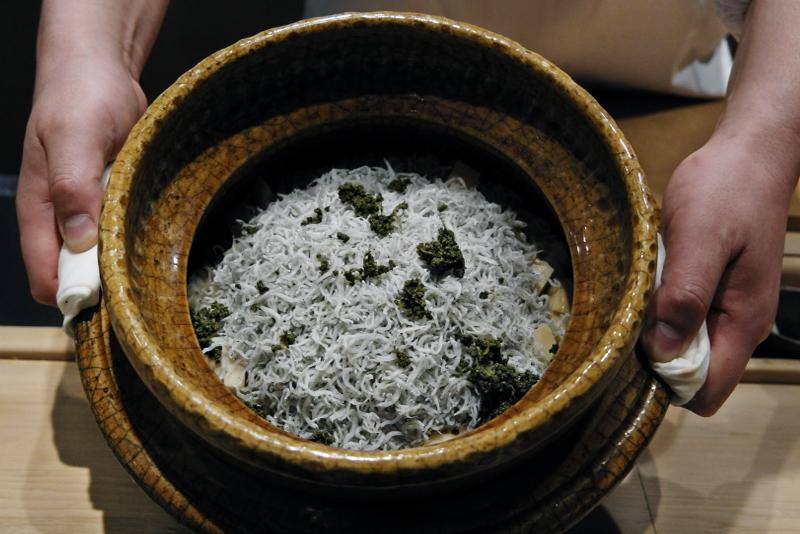 シラスと筍の炊き込みご飯