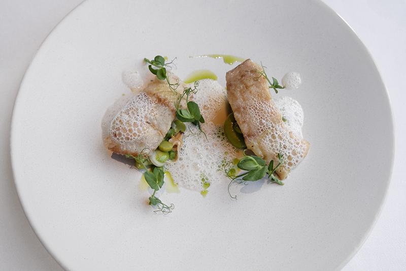 甘鯛のムニエル 空豆のフランセーズ