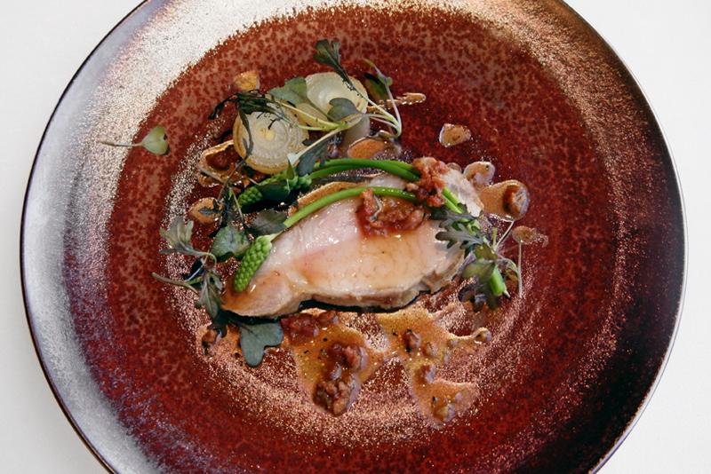 イベリコ豚ロース チョリソーとシトロンコンフィのソース
