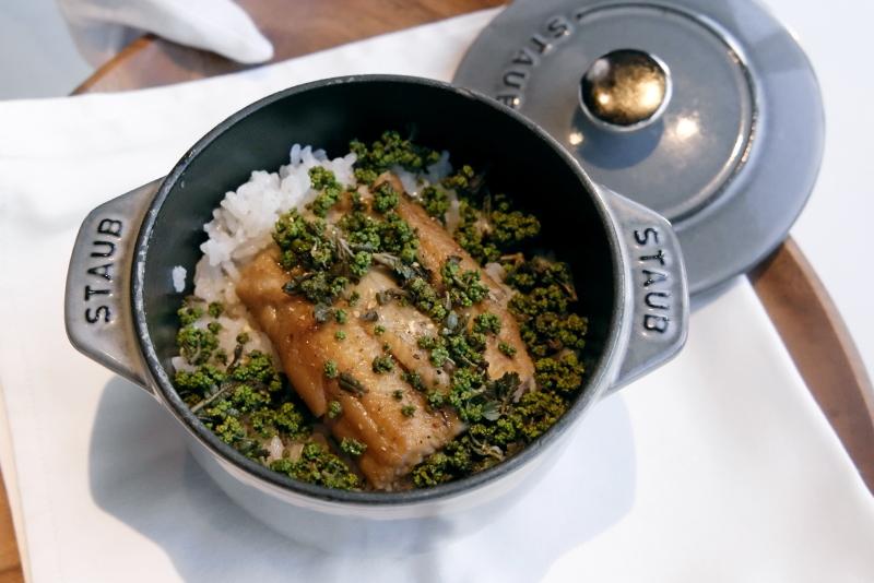 アナゴと和歌山花山椒のご飯