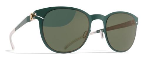 グリーンのエレガントなサングラス