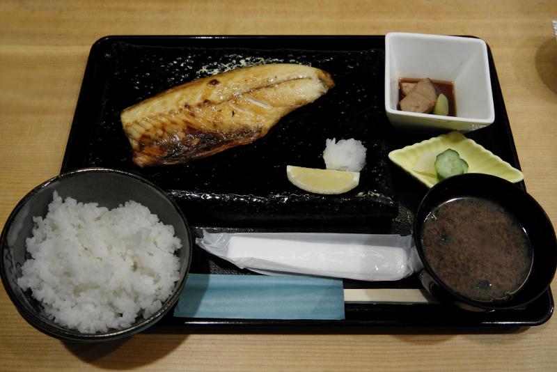 本日の焼き魚定食 サバの文化干し
