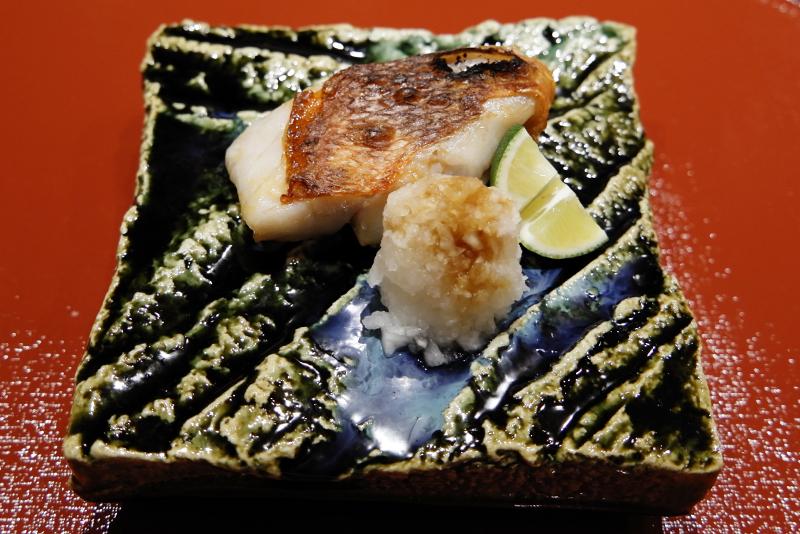 銚子産キンメダイの酒塩焼き