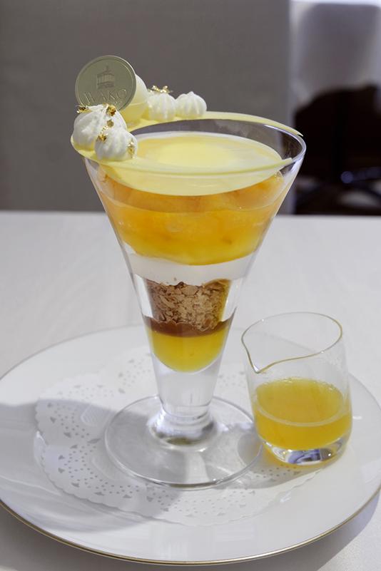 ユズとオレンジのパフェ