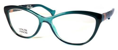 ブルーのグラデーションカラーのメガネ