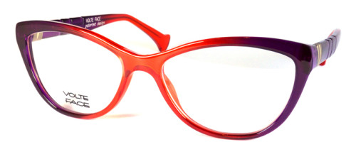 オレンジから紫へのグラデーションが美しいメガネ
